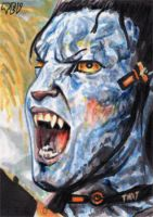 Avatar sketch card  Jake Sully by tdastick