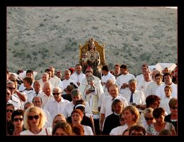 Procession On The Pag Island, Craotia by skarzynscy