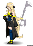 Kingdom Hearts x Pokemon - Cynthia by LucarioShirona