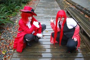 Madam Red and Grell - DownTime by Urcha-Von-Leonard