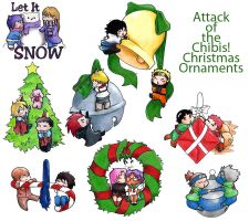 Attack of the Chibis Ornaments by THWAQ