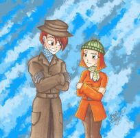Gift: Human Ginger and Rocky by MaskedSugarGirl