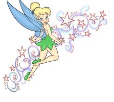 tinkerbell and stars by orcalover165