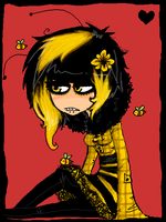 .bee girl. by playxdead