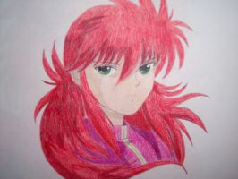Kurama Face Shot by Terra-of-the-Forest