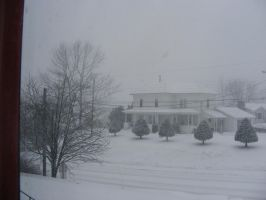 11th feb 2013 snowstorm by BlueIvyViolet