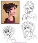 Lady Vittoria Sketches - October 2014 by The-Ez