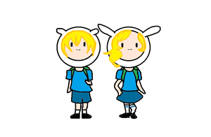 Finn and Fionna -ADVENTURE TIME!- by NightPriestess09