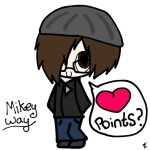 Mikey Way: Points? by Furries-In-A-Blender