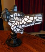 3-Dimensional Wolf Stained Glass Lamp by mclanesmemories