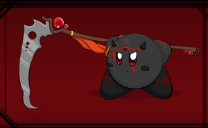 Random Kirby With Scythe by stormcannon1