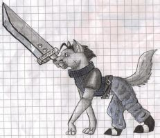 Zack Fair as a Wolf by neomon