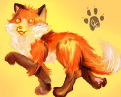 Kiten the foxwolf by ChristianKitsune