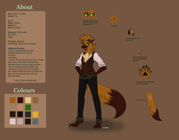 Fursona: Tanya 'Tox' 2013 Ref by Willow-Wyvern
