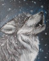 Snow Wolf by kira-lee