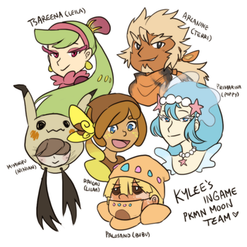 Pokemon: My Moon Team by ky-nim