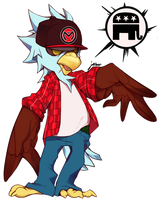 Lineplay Eagle CHICKEN-LICKIN' HOMIE by Jeibon
