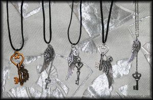 December Necklaces by fallnangeltears