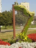 Flowery harp 7 stock by hermiona1988-stock