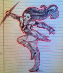Assassins creed inspo (school doodle) by clawsoncat