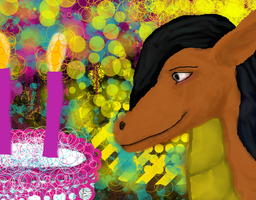 Nava Birthday Party Cake by Poorartman