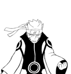 Naruto Kurama Mode- Request Part A Sketch... by Shadow-chan15