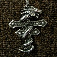 cross dragon necklace stock by Gothicmamas-stock