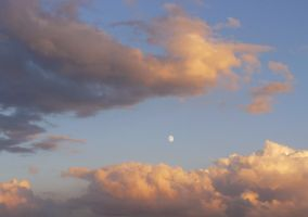 red clouds and rising moon 01 by Nexu4