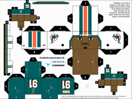 Cameron Wake Dolphins Cubee by etchings13
