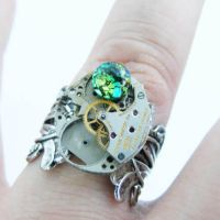 Awesome Steampunk Ring by Create-A-Pendant