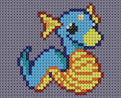 Dratini Crossstitch by drsparc