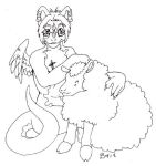 Zaly and a sheepie by pandalemur