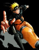 Naruto In Action by inkscripter