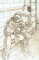 TMNT Donatello Pencils by CliffEngland