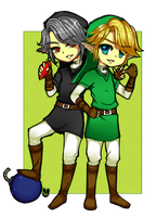 Link and Dark Link by XHolyKnightAgrias
