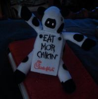 chick-fil-A cow by Devilgirl007