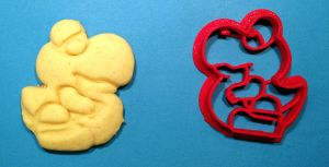 Baby Yoshi cookie and cutter by WarpzonePrints