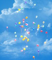 Ballons in the sky by RiotLife