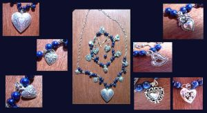Blue Heart Necklace by Tokyo-Empress