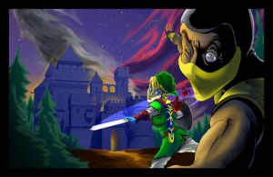 Link Vs. Scorpion by SemajZ