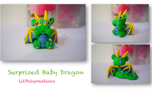 Surprised Baby Dragon by LilPolycreations