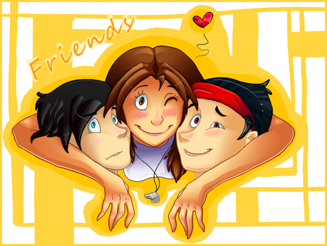 Three friends by Mirshaa
