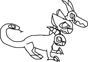 chimera uncolored by Me-MowTheCat