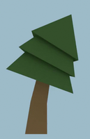 Low Poly Bent Evergreen Tree by Zectric