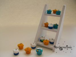 Adventure Time Polymer Clay Cupcakes by RainbowDropDreams