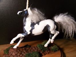 Black and white paint unicorn by AmandaKathryn