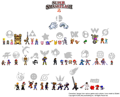 The Super Smash Flash 2 Icons by Byllant