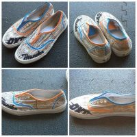 Oklahoma City Thunder Custom Vans Shoes by Cheetahclub84