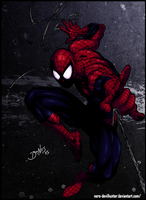 Spider-man by Benes... colored by Nero-DevilHunter