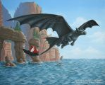 Flying Toothless by Strecno
